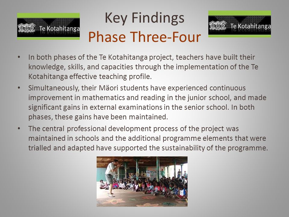 Key Findings Phase Three-Four