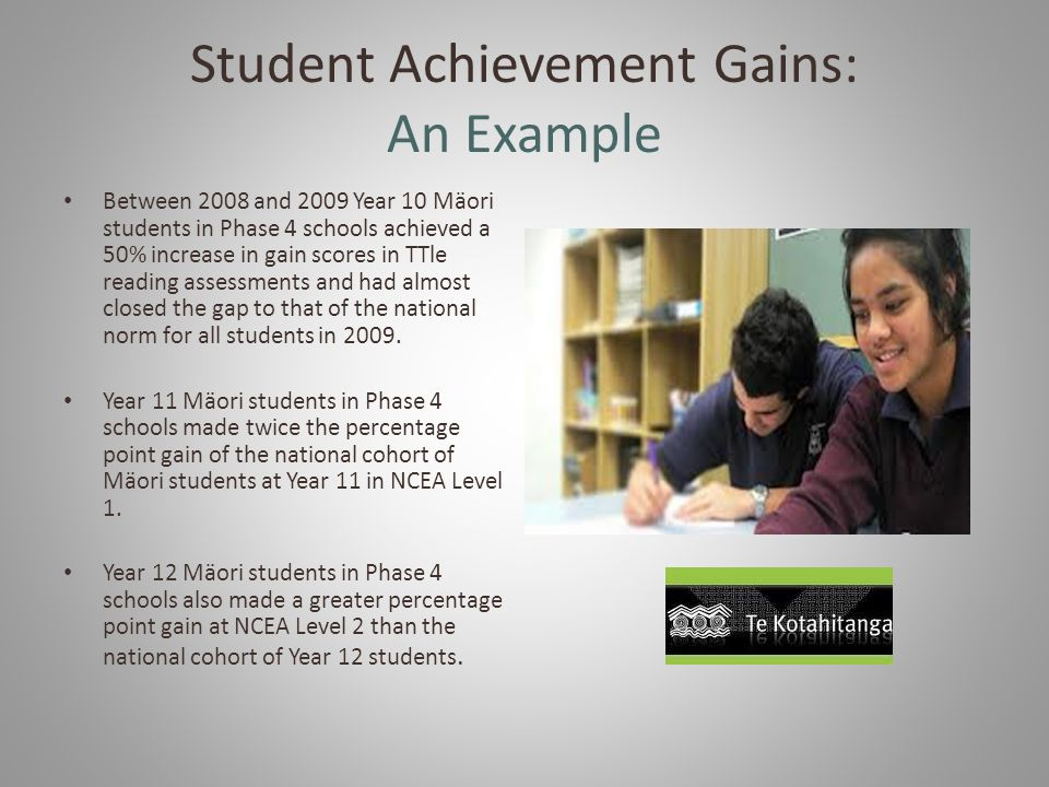 Student Achievement Gains: An Example