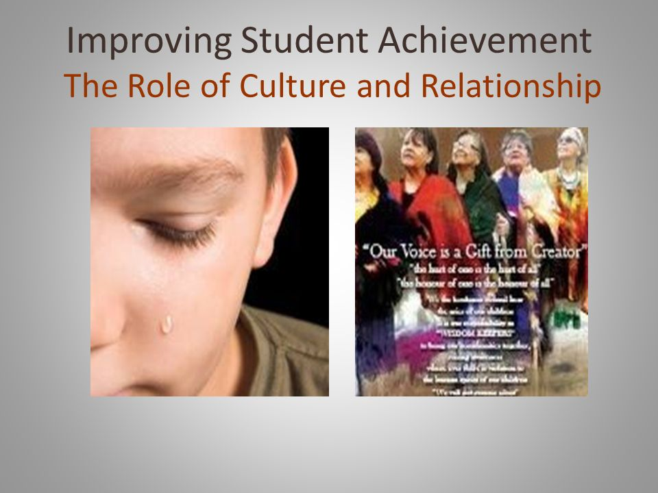 Improving Student Achievement The Role of Culture and Relationship