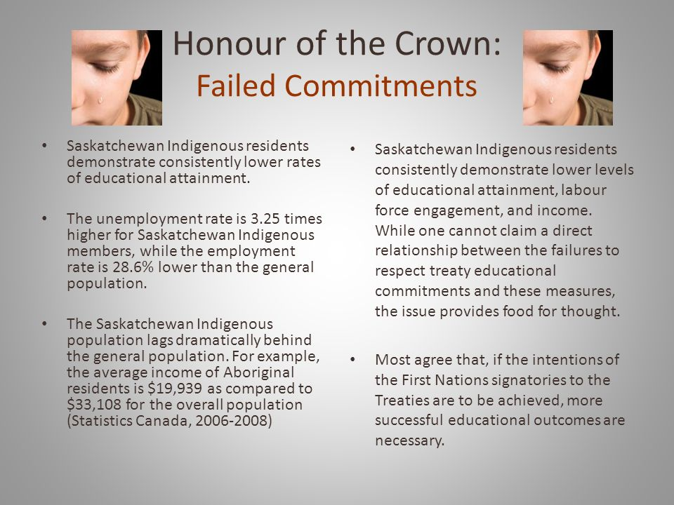 Honour of the Crown: Failed Commitments