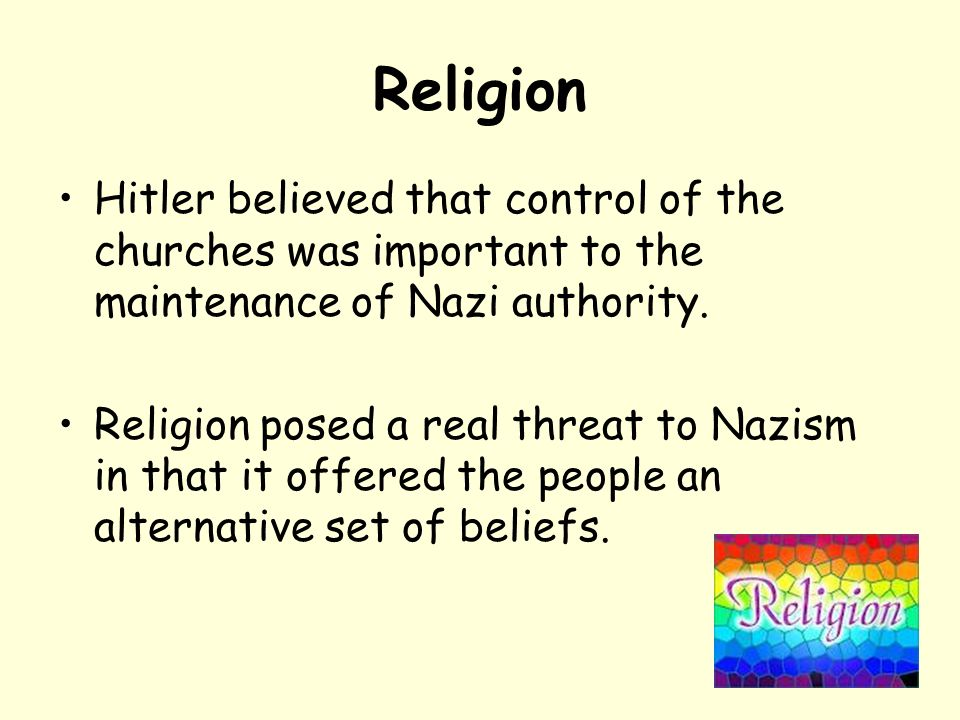 nazi germany religion essay These nazi germany essay questions have been written by alpha history authors they can also be used for short-answer questions and research/revision tasks.