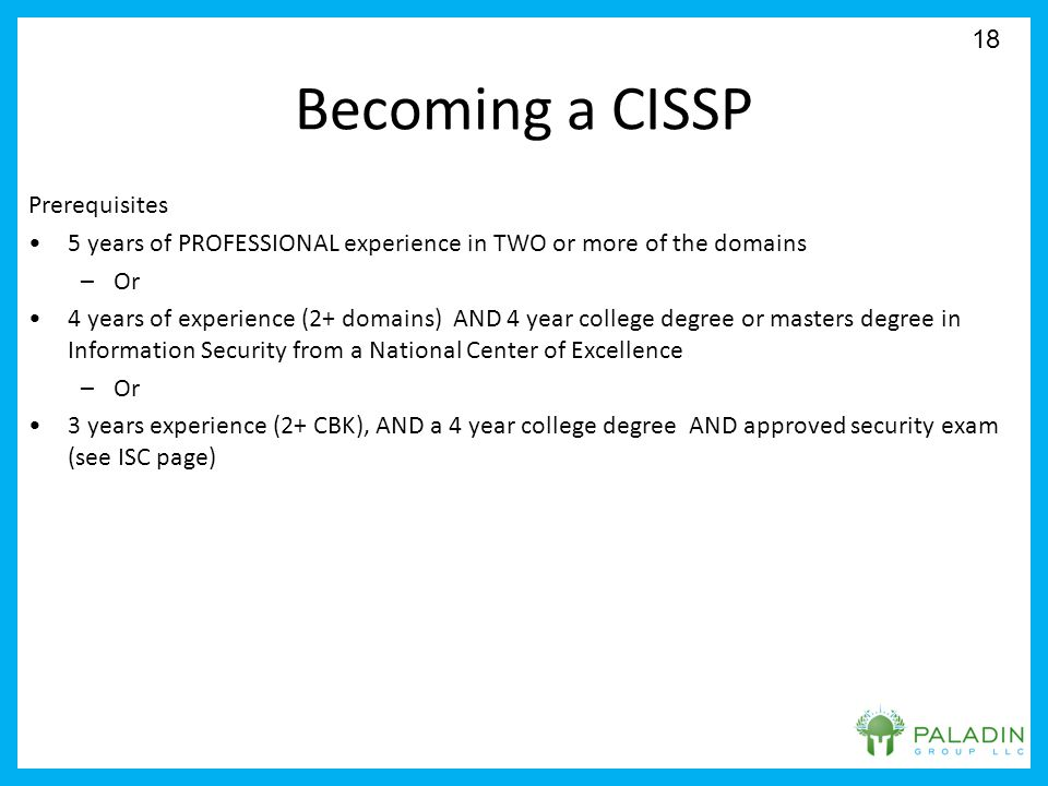 Certified Information System Security Professional Cissp