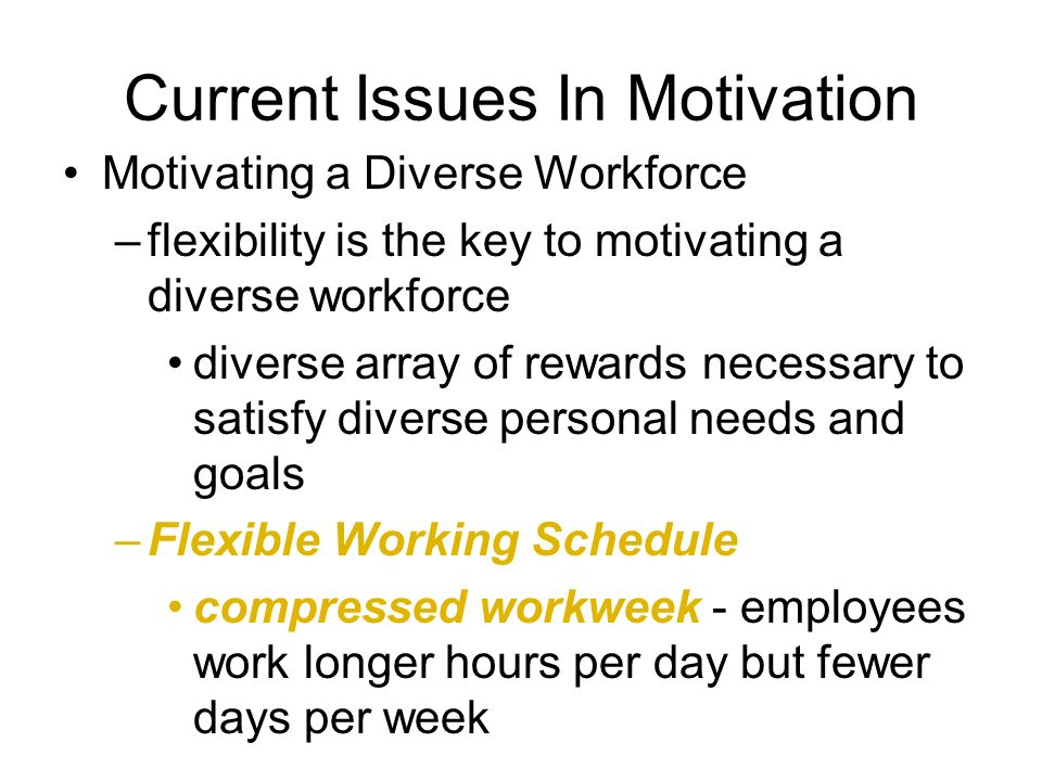 motivational issues in the workplace The secret to catapulting your company into a leading position in terms of employee motivation is to improve its effectiveness in fulfilling all.