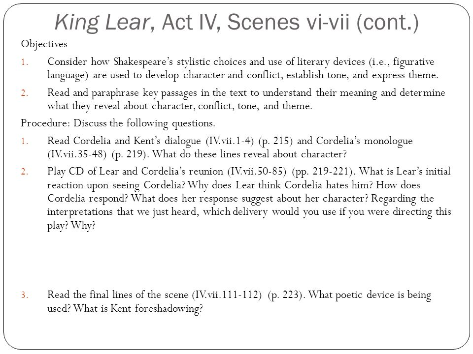 stylistic devices used in king lear essay How to write literary analysis the literary essay: a step-by-step guide when you read for pleasure, your only goal is enjoyment you might find yourself reading to get caught up in an exciting story, to learn about an interesting time or place, or just to pass time.