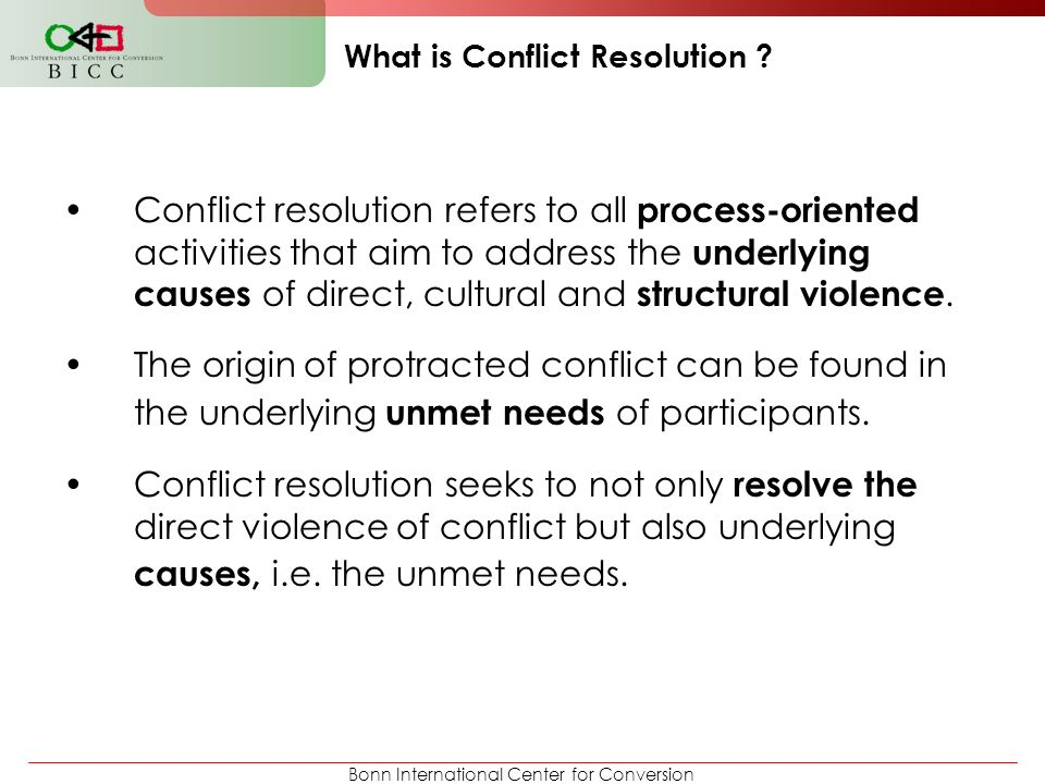 What is Conflict Resolution