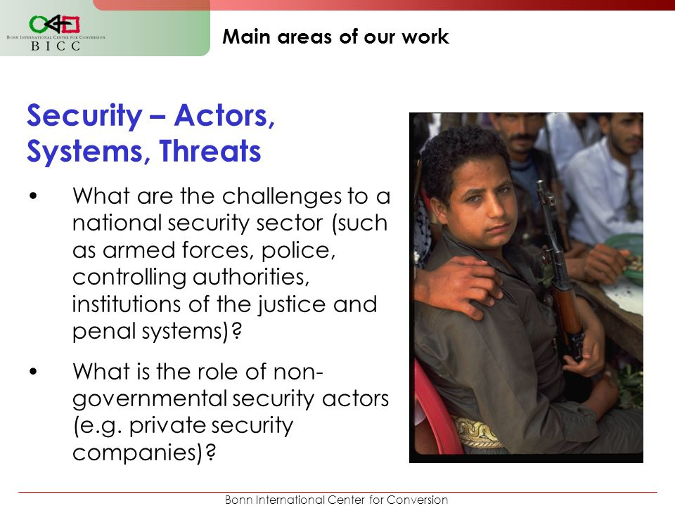 Security – Actors, Systems, Threats