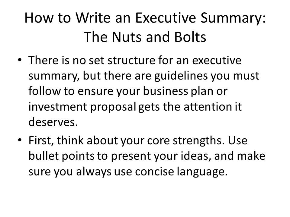 Nuts bolts of a business plan essay