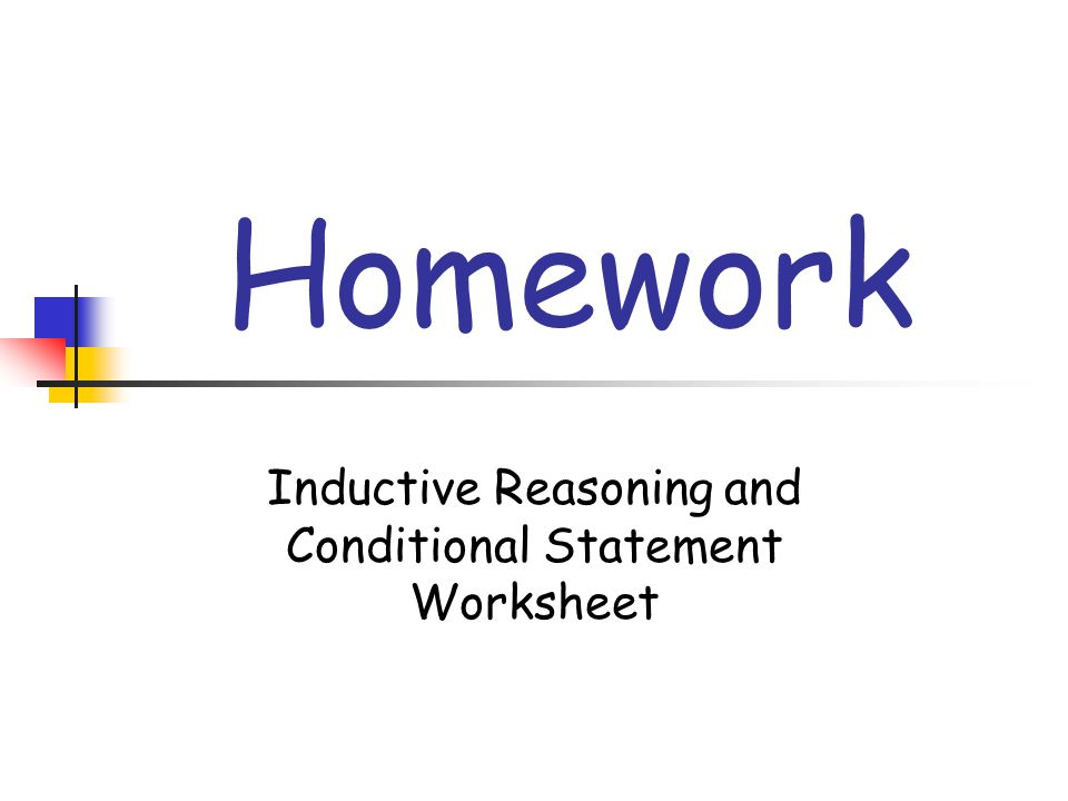 Inductive Reasoning and Conditional Statements ppt download – Inductive Reasoning Worksheet