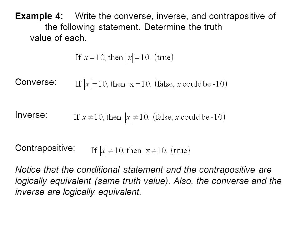 Mmig2 B Converses And Conditional Statements Ppt Download