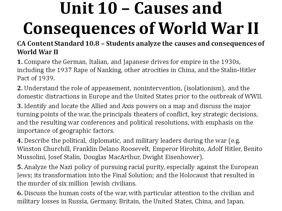 a discussion on the causes of world war i World war i summary: the war fought between july 28, 1914, and november 11, 1918, was known at the time as the great war, the war to end war, and (in the united states) the european war only when the world went to war again in the 1930s and '40s did the earlier conflict become known as the first.