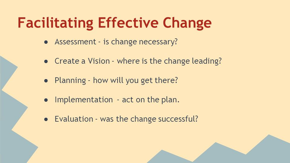 facilitating change Source,book,for,facilitators, a theory of change is an organization's story of how and why the  better facilitate the planning.