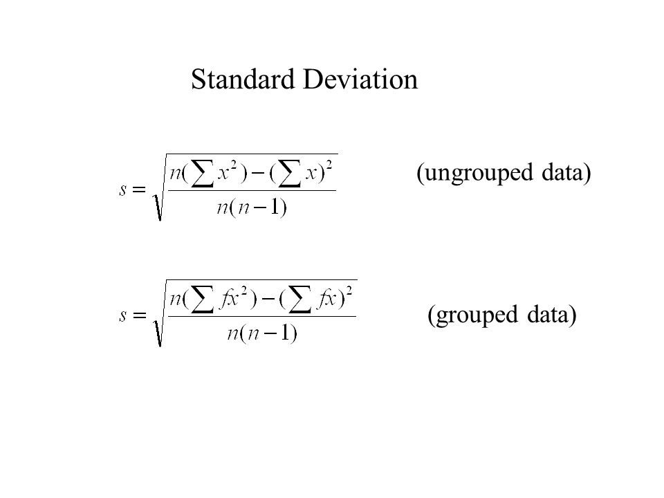 grouped and ungrouped data Chapter three numerical descriptive measures study play mode (ungrouped data) mode (grouped data.