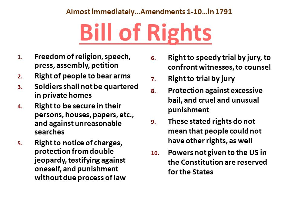 bill of rights simplified