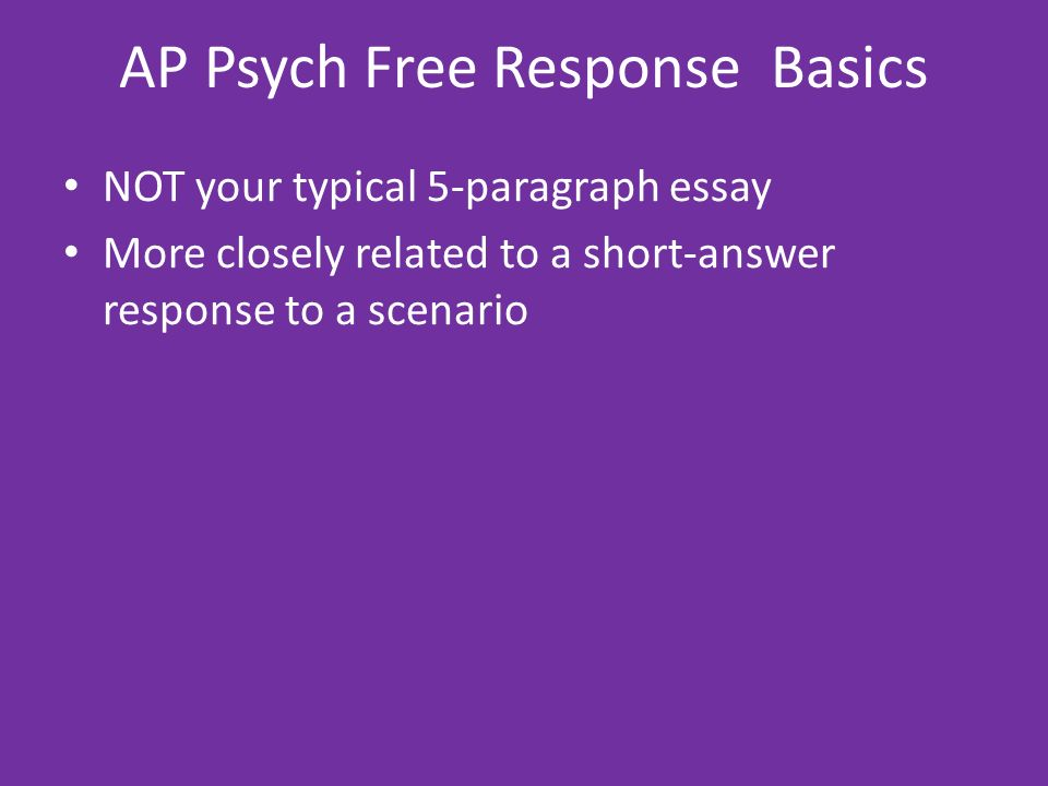 ap psychology introduction ppt video online  ap psych response basics