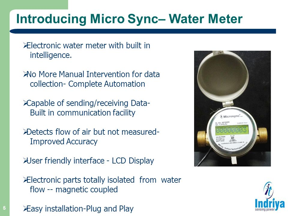 Electronic Water Meter Data Log : Microsync™ water meter ami suite ppt download