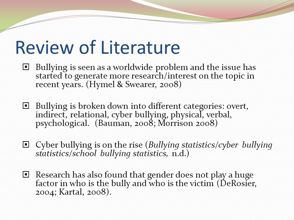 A Review Of Literature