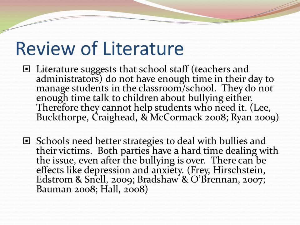 literature review on cyber bullying
