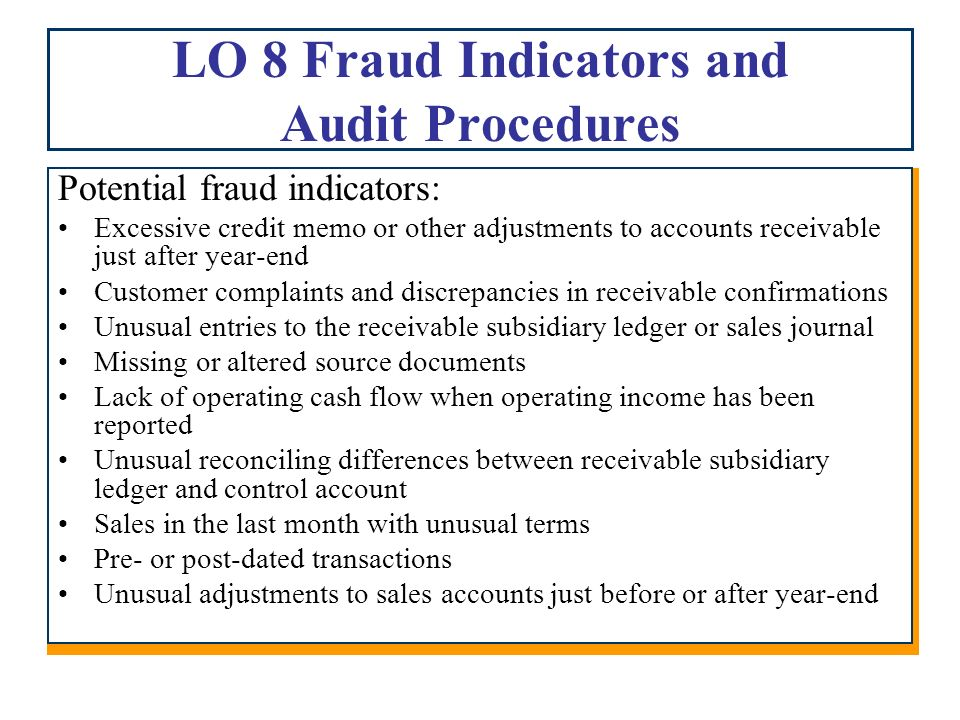 Chapter 10 Auditing Revenue and Related Accounts - ppt ...