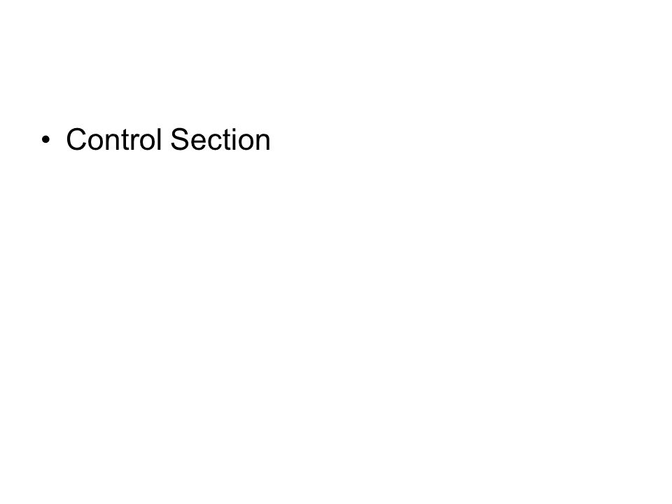 Control Section