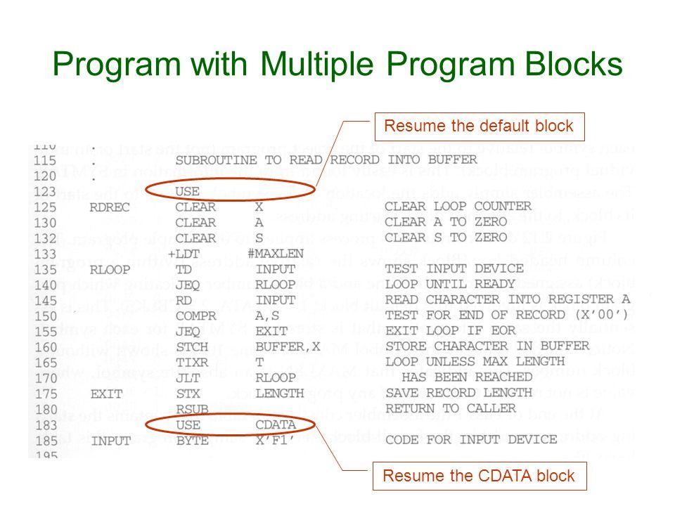 Program with Multiple Program Blocks