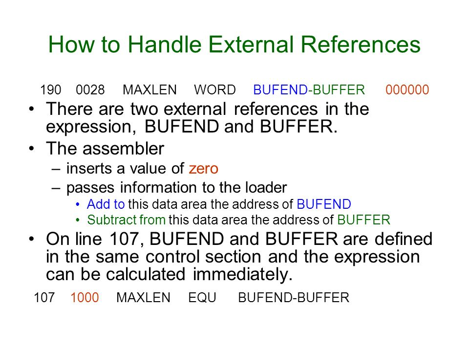 How to Handle External References