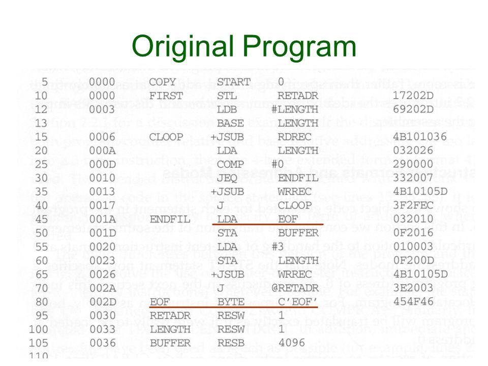 Original Program