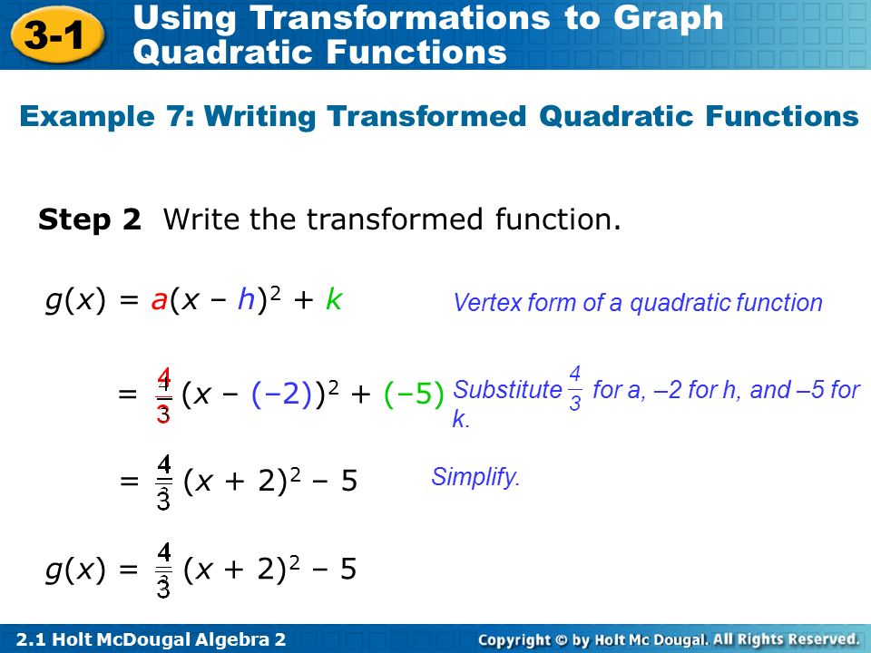 quadratic function presentation essay example • analyze graphs of quadratic functions  the graph of a quadratic function in example 1, note that the coefficient a determines how widely the parabola given by f (x)  if ax2 + bx + c does not factor, you can use the quadratic formula to find the x-intercepts remember, however, that a parabola may not have.