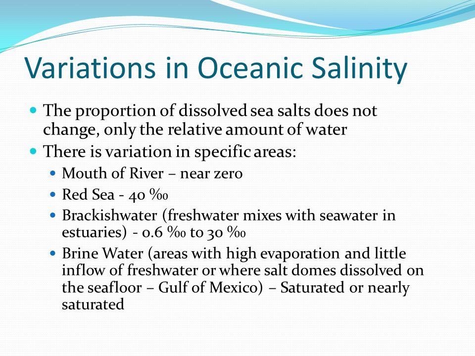 Variations in Oceanic Salinity