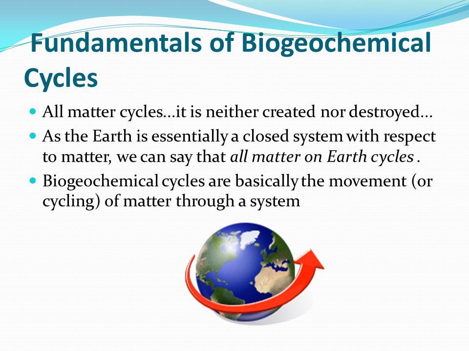 Fundamentals of Biogeochemical Cycles