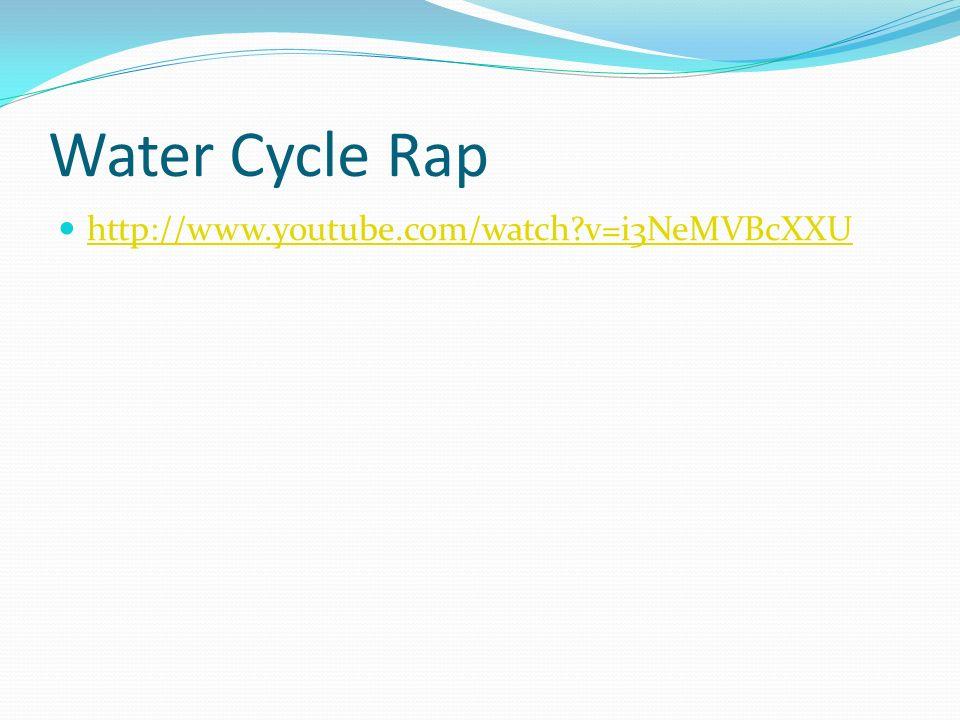 Water Cycle Rap http://www.youtube.com/watch v=i3NeMVBcXXU