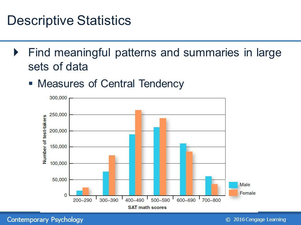 writing a descriptive statistics reports