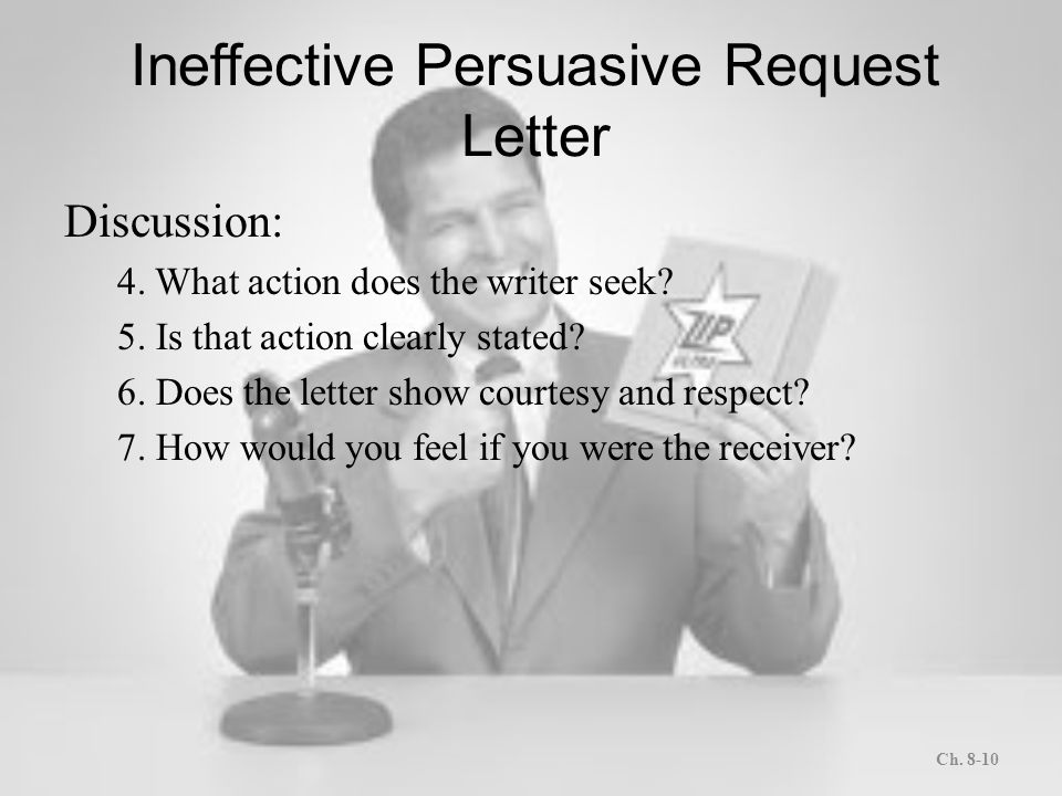 Letters and memos that persuade ppt download ineffective persuasive request letter spiritdancerdesigns Gallery