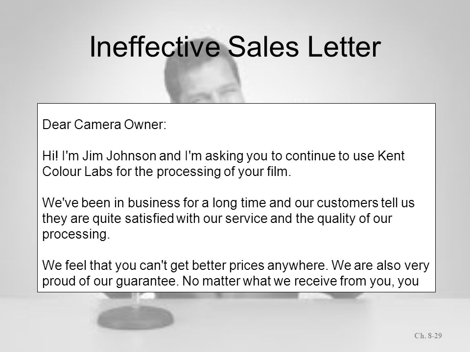 Letters and memos that persuade ppt download ineffective sales letter spiritdancerdesigns Gallery