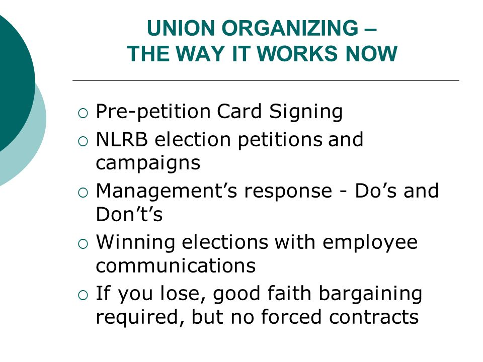 Union Organizing In The Obama Administration - Ppt Download
