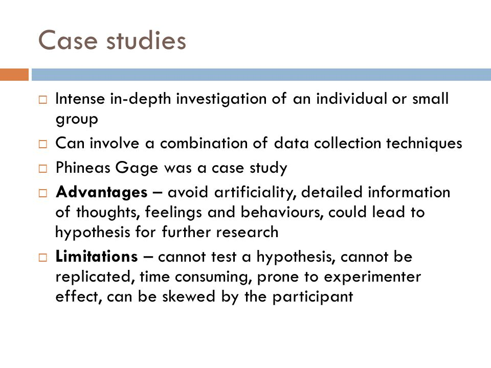 limitations of single case study research Scope, limitations, and delimitations  limitations of case studies  correlational research may also have limitations with respect to the generality of the.