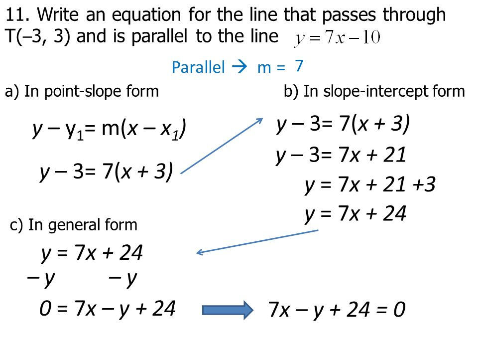 Chapter 6 Equations of a line. - ppt download