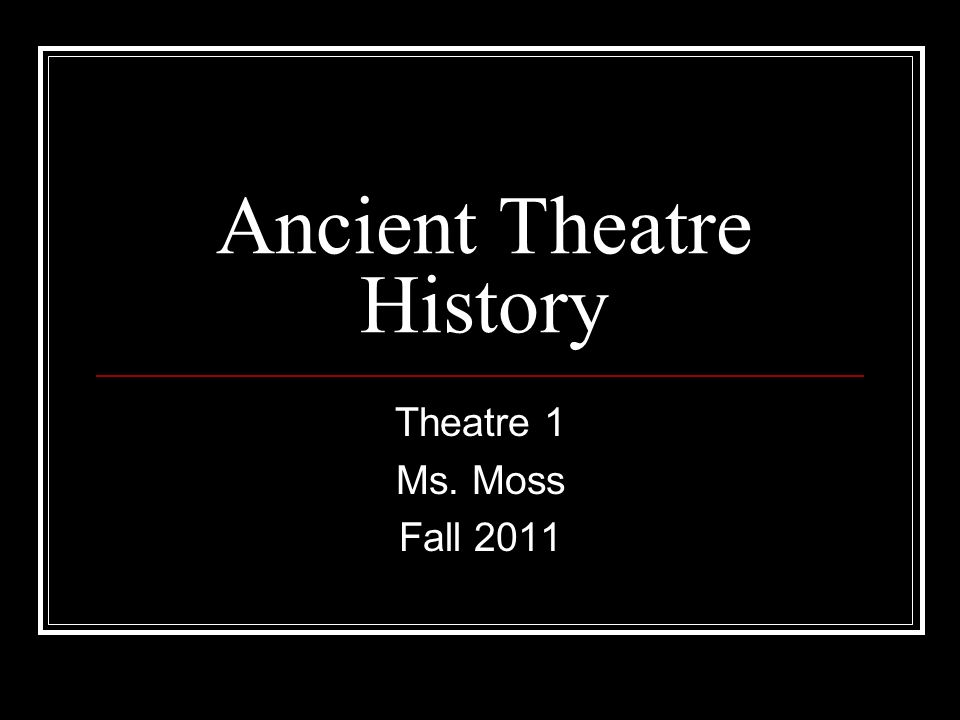 an introduction to the history of ancient greek theatre