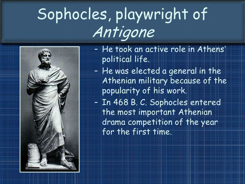 the role of the individual in sophocles antigone Antigone is as striking a force in greek tragedy as any oedipus or agamemnon this helps explain why sophocles's play endures: having premiered in the late 440s bc, it has remained a classic of.