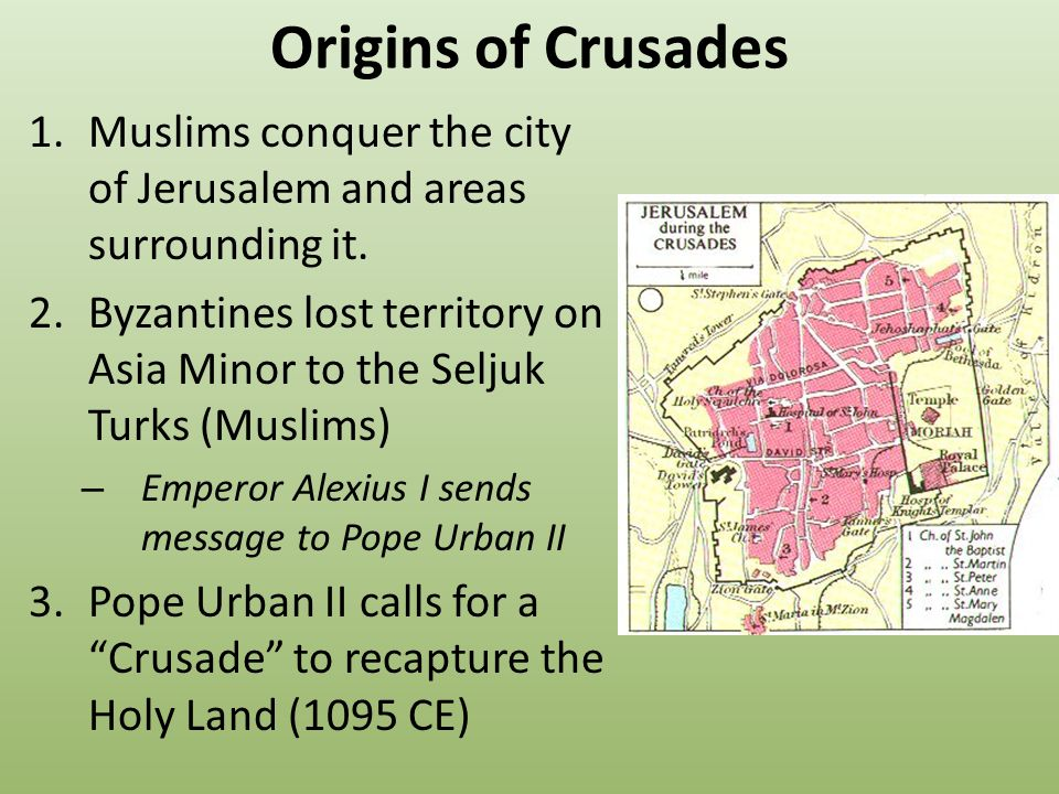 an overview of pope urban call for a religious pilgrimage and a recapture of the holy land The yearning for the land of israel never left the jewish people  pope urban ii mounted the first campaign,  and to recapture the holy land.