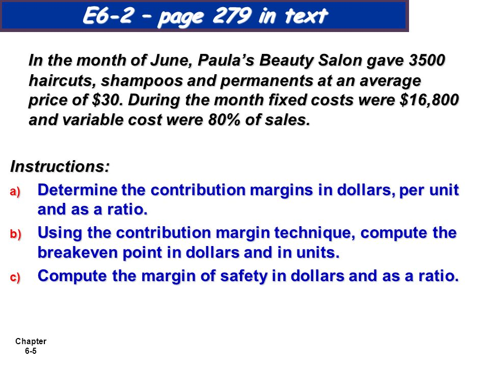 Cost volume profit analysis additional issues ppt download for Act point salon price