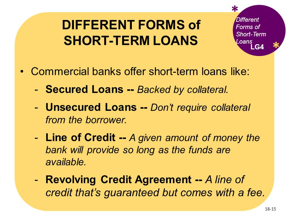 Short Term Loans : What s finance the role of and financial