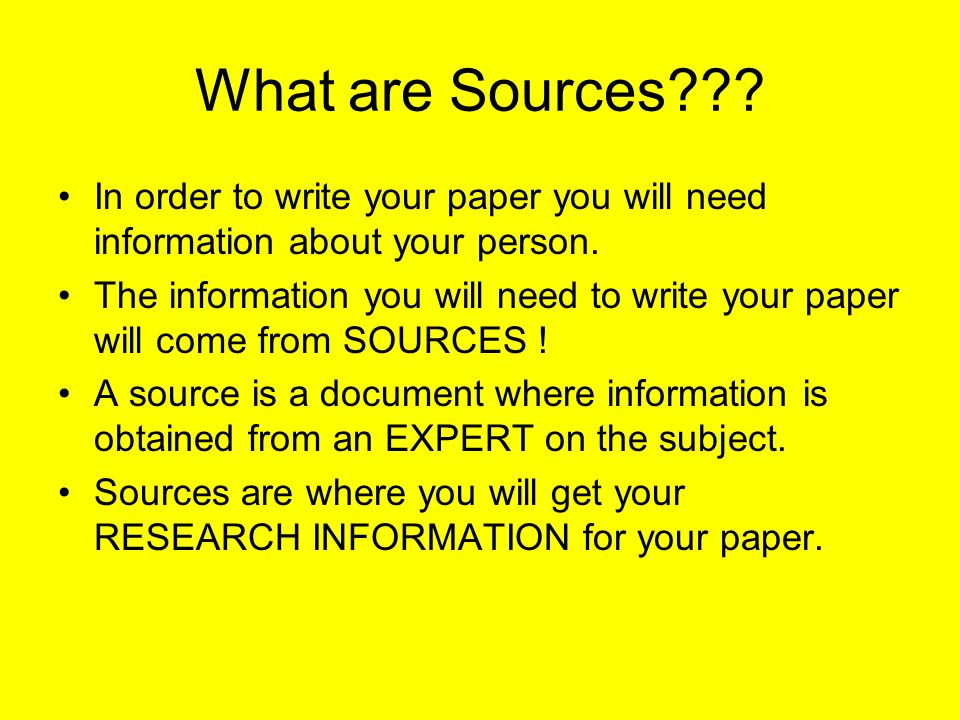 research paper th grade ppt video online  what are sources in order to write your paper you will need information about your person