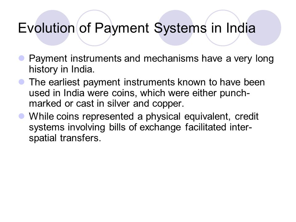 Evolution of Payment Systems in India