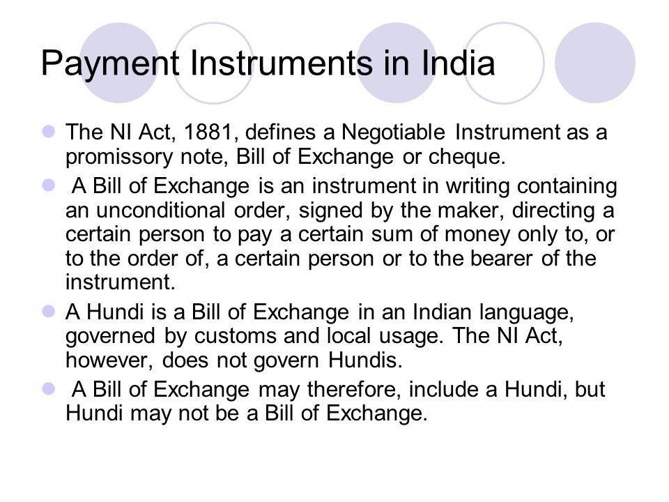 Payment Instruments in India