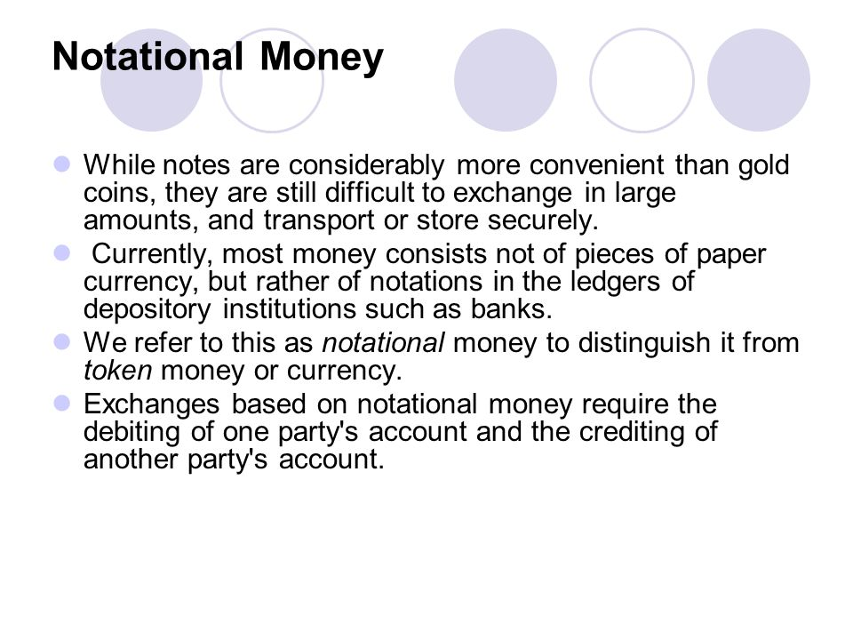 Notational Money