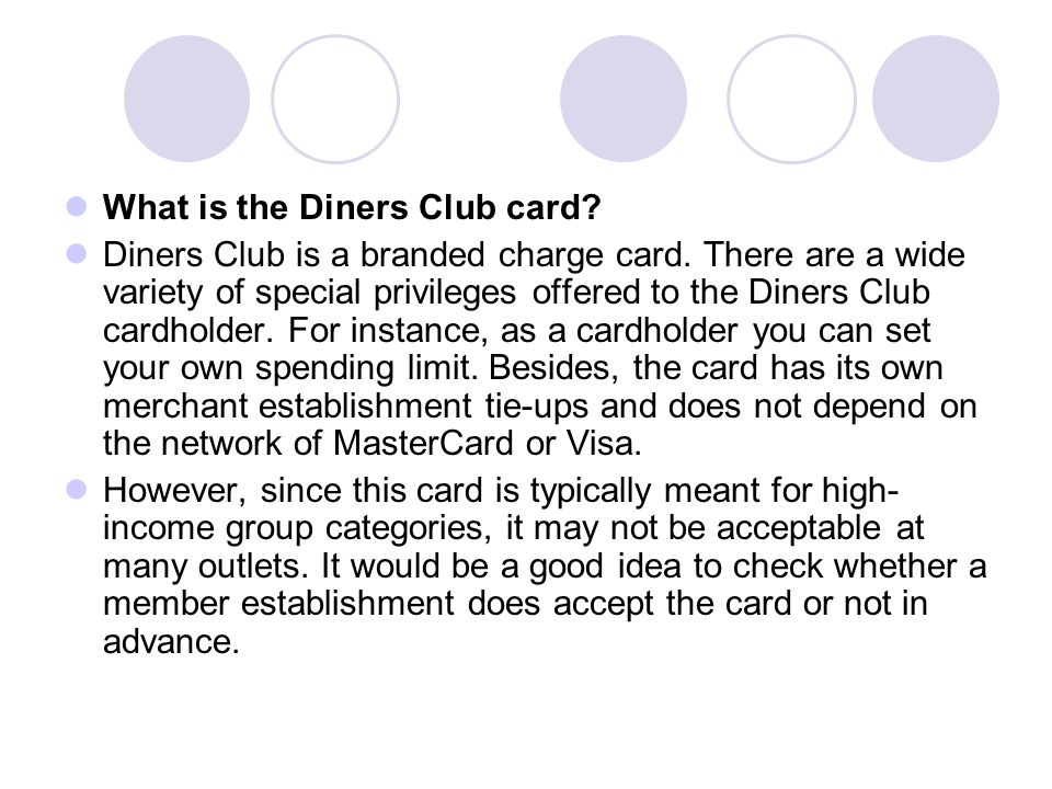 What is the Diners Club card
