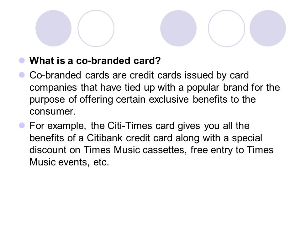 What is a co-branded card