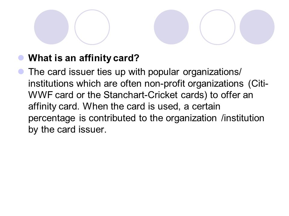 What is an affinity card