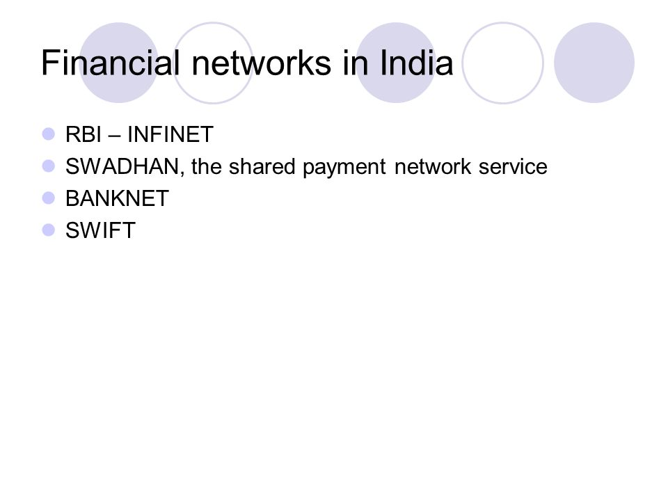 Financial networks in India
