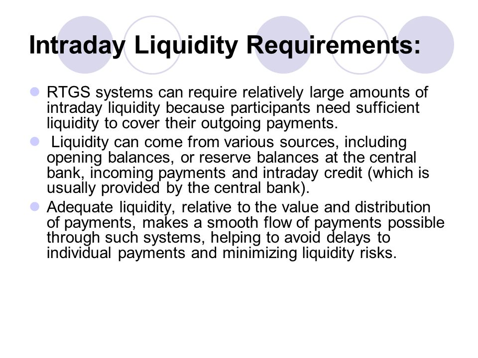 Intraday Liquidity Requirements: